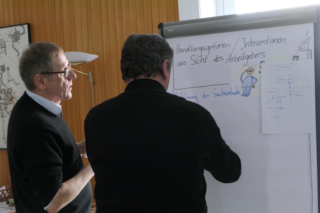 Peter Stadler und Wilfried Dormann